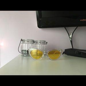 Retro clear sunglasses